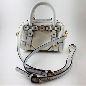 ⭐️🆕[Versace] White Leather/canvas cross body bag
